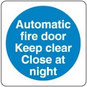 Mandatory Safety Sign - Automatic Fire Door 034